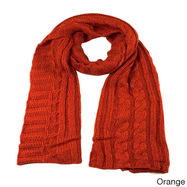 LA77 Women's Cable Knit Scarf at Sears.com