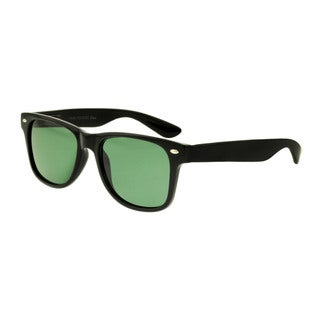 Unisex Black Fashion Sunglasses with Bonus Clear-lens Pair