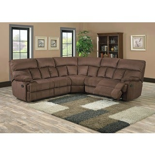 Becky Pebble Brown Reclining Sectional