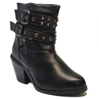 Blue Women's 'Westtie' Black Sheriff Style Ankle Boots