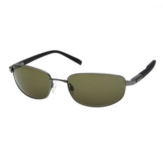 Serengeti Men's 'Manetti' Shiny Gunmetal Polarized Sunglasses