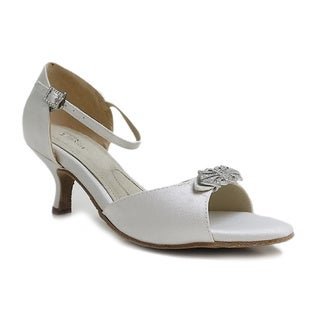 Angela Nuran Women's 'Astoria' Satin Kitten-heel Pumps