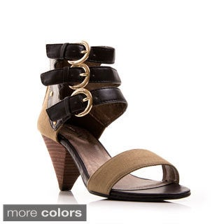 Gomax Women's 'Ola 28' 2-piece Buckled High Heel Sandals