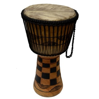Hand-crafted King's Court Djembe Drum (Ghana)