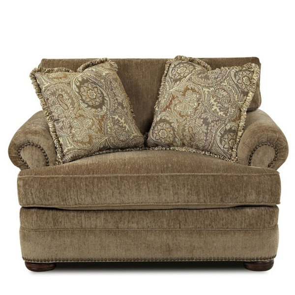 Tally Portabella Brown Welted-cushion Armchair