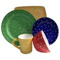 Hand-painted 'Pallini' 5-piece Place Setting Bundle