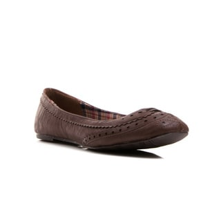 Gomax Women's Dutch 04 Oxford Brogue Ballerina Flats