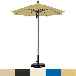 Lauren & Company Sunbrella 7.5-foot Commercial Aluminum Umbrella with Stand