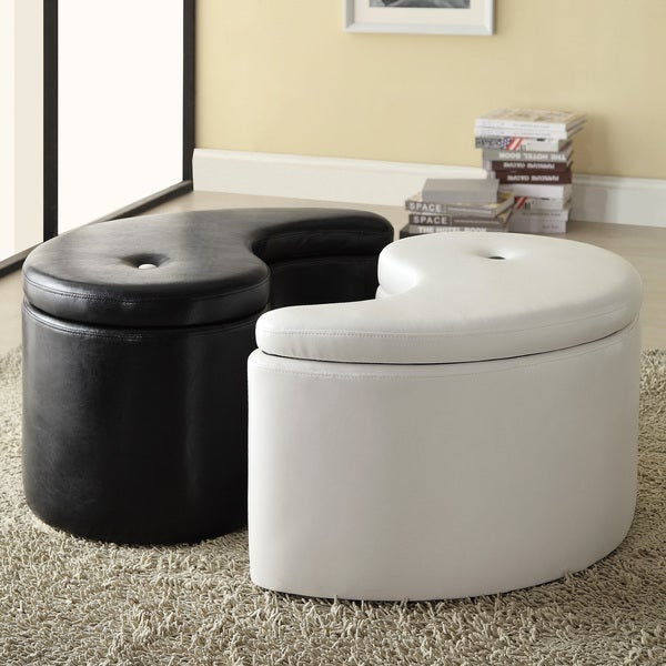 Ying Yang Black/ White Storage Ottoman