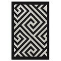 Indo Hand-woven Broadway White/ Black Modern Geometric Area Rug (5' x 8')