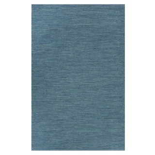 Indo Hand-woven Cancun Blue Sea Modern Area Rug (8' x 10')