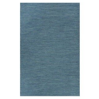 Indo Hand-woven Cancun Blue Sea Brindled Area Rug (4' x 6')