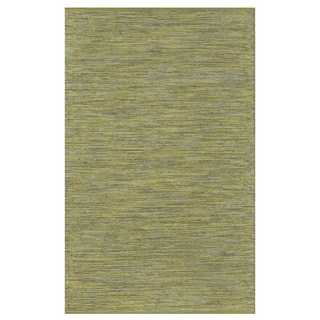 Indo Hand-woven Cancun Apple Green/ Lemon Yellow Contemporary Area Rug (4' x 6')