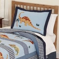 Dino Dave Cotton 3-piece Quilt Set