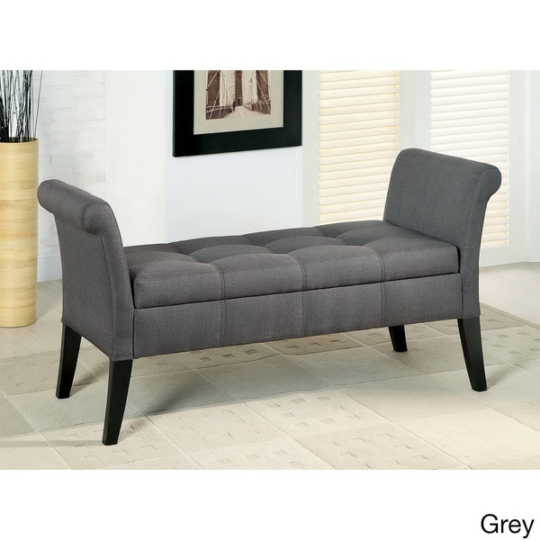 Furniture Of America Dohshey Fabric Storage Accent Bench 16080405 Shopping