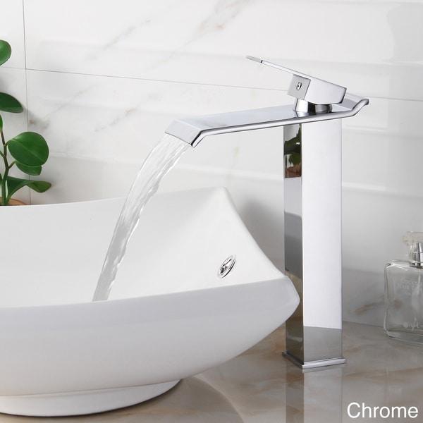 Elite 8818 Single-lever Waterfall Vessel Sink Faucet