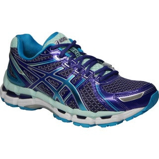 Asics Women's 'Kayano 19' Purple/ Island Blue Gel Running Shoes