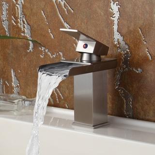 Elite 8813BN Brushed Nickel Waterfall Basin Sink Faucet