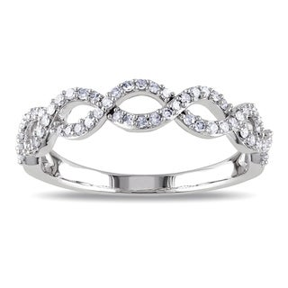 Miadora 14k White Gold 1/4ct TDW Diamond Infinity Ring (G-H, I1-I2)