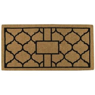 "Pantera Extra-thick Monogrammed Doormat (36"" x 72"")"