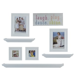 Melannco 8-piece White Frame and Shelf Set