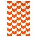 Indo Metropolitan Orange/ Bright White Cotton Area Rug (3' x 5')