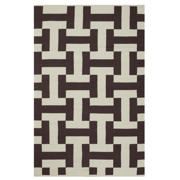 Metro Canal Coffee/Beige Rug, 5' x 8'