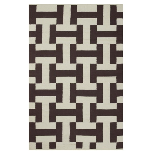 Metro Canal Coffee/Beige Rug, 6' x 9'