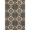 Veranda Moroccan Tile Bone Indoor/ Outdoor Rug (5' x 7'3)