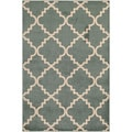 Veranda Taza Light Blue/ Bone Indoor/ Outdoor Rug (6'7 x 9'6)