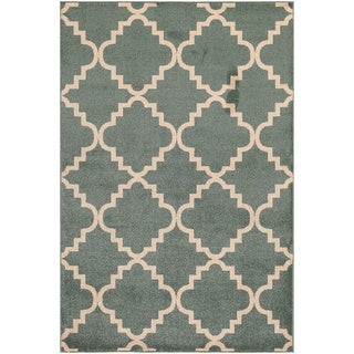 Veranda Taza Light Blue/ Bone Indoor/ Outdoor Rug (7'10 x 9'10)