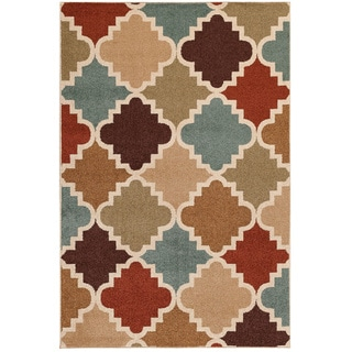 Veranda Taza Multi/ Bone Indoor/ Outdoor Rug (6'7 x 9'6)