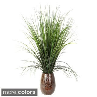 28-inch Onion Grass in Brown Ceramic Pot