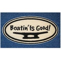 Hand-tufted Boating is Good Blue Accent Rug (2'5 x 1'6)