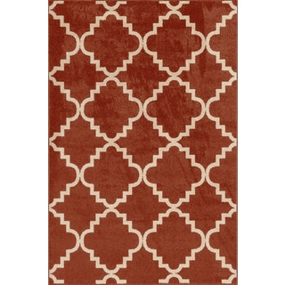 Veranda Taza Clay/ Bone Indoor/ Outdoor Rug (5' x 7'3)