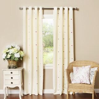 Pom Pom Dot Oxford Grommet Top Curtain Panel Pair