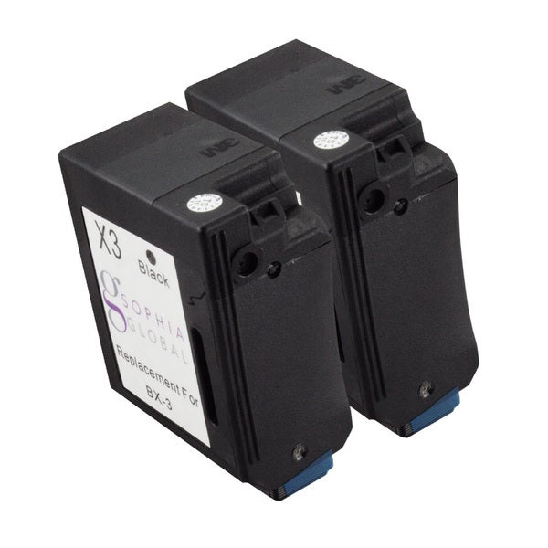 Sophia Global Remanufactured Ink Cartridge Replacement for Canon BX-3 (2 Black)
