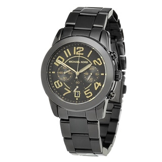 Michael Kors Women's MK5858 'Mercer' Black Chronograph Watch