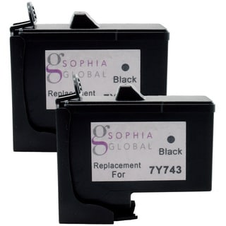 Sophia Global Remanufactured Ink Cartridge Replacement for Dell 7Y745 (2 Color)