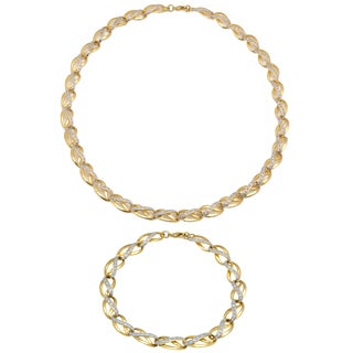 Finesque 1/4ct TDW Diamond Link Necklace with Bonus Bracelet (I-J, I2-I3)