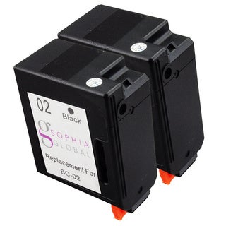 Sophia Global Remanufactured Ink Cartridge Replacement for Canon BC-02 (2 Black)