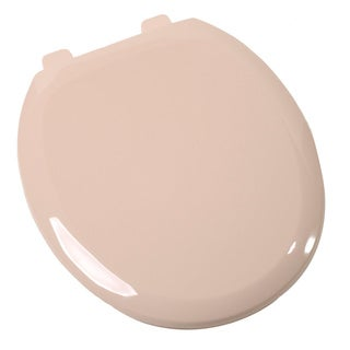 Comfort Seats Close Premium Plastic Round Fawn Beige Toilet Seat with Closed Front