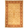 Safavieh Hand-knotted Peshawar Vegetable Dye Gold/ Red Wool Rug (8' x 10')