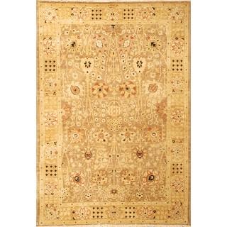 Safavieh Hand-knotted Peshawar Vegetable Dye Multi/ Gold Wool Rug (9' x 12')