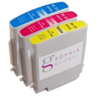Sophia Global Compatible Ink Cartridge Replacement for HP 11 (1 Cyan, 1 Magenta, 1 Yellow)