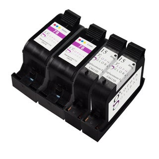 Sophia Global Remanufactured Ink Cartridge Replacement for HP 15 and HP 78 (2 Black, 2 Color)
