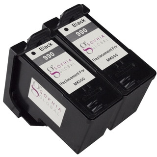 Sophia Global Remanufactured Ink Cartridge Replacement for Dell MK990 Series 9 (2 Black)