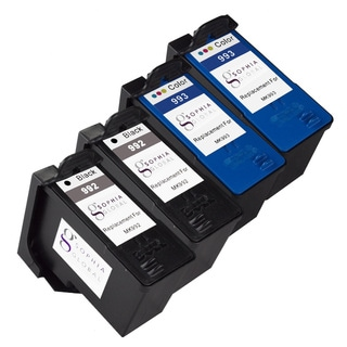 Sophia Global Remanufactured Ink Cartridge Replacement for Dell MK992 and MK993 Series 9 (2 Black, 2 Color)