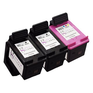 Sophia Global Remanufactured Ink Cartridge Replacement for HP 901XL and HP 901 (2 Black, 1 Color)