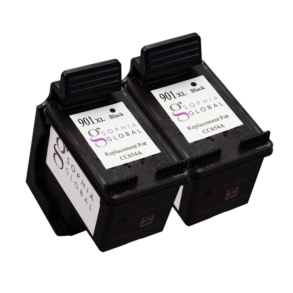 Sophia Global Remanufactured Ink Cartridge Replacement for HP 901XL (2 Black)